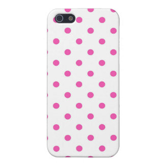 Cute and sweet pink polka dots case for iPhone 5