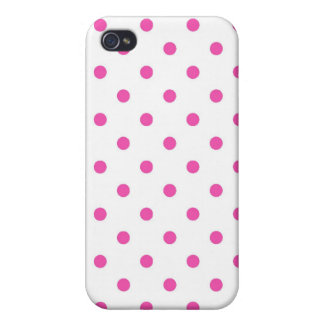 Cute and sweet pink polka dots iPhone 4/4S covers