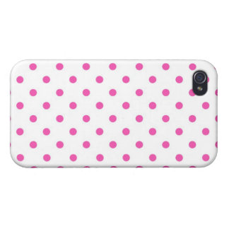 Cute and sweet pink polka dots cases for iPhone 4