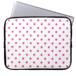 Cute and sweet pink polka dots laptop sleeve