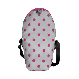 Cute and sweet pink polka dots courier bag