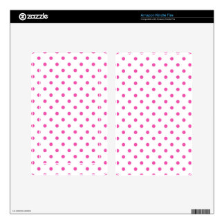 Cute and sweet pink polka dots kindle fire decals