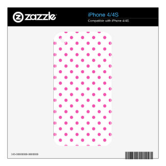 Cute and sweet pink polka dots decal for the iPhone 4S