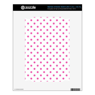 Cute and sweet pink polka dots skin for the NOOK