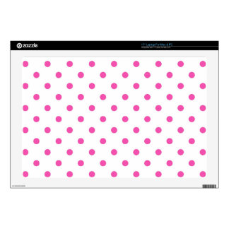 Cute and sweet pink polka dots laptop skins