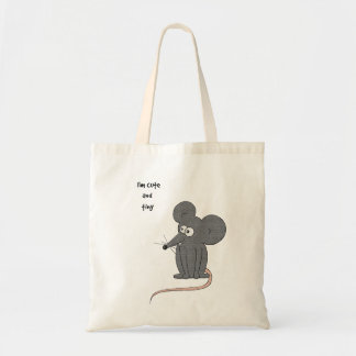 Cute and tiny mouse tote bag