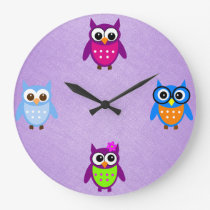 Cute and Trendy Owl Clock