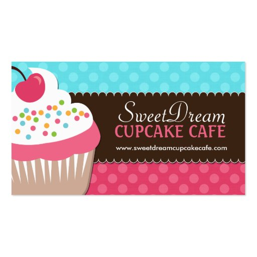 Cute And Whimsical Cupcake Bakery Business Cards Zazzle