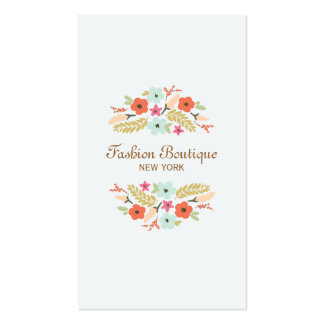 Cute and Whimsical Flower Bouquet Boutique Business Card