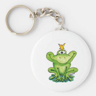 Cute and whimsical Frog Prince by Gerda Steiner Keychain