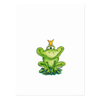 Cute and whimsical Frog Prince by Gerda Steiner Postcard