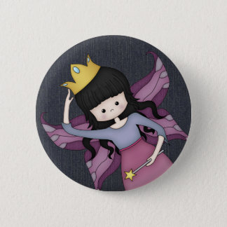 Cute and Whimsical Little Fairy Princess Girl Button