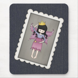 Cute and Whimsical Little Fairy Princess Girl Mouse Pad