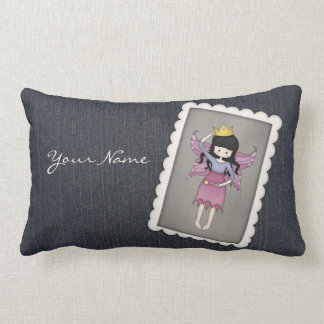 Cute and Whimsical Little Fairy Princess Girl Throw Pillows