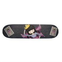 Cute and Whimsical Little Fairy Princess Girl Skateboard