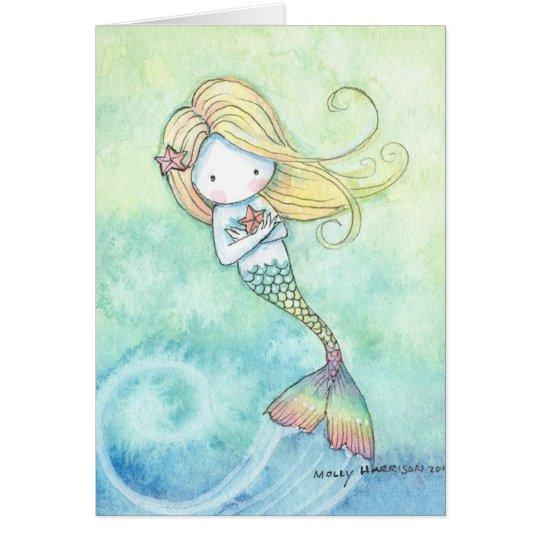 Cute and Whimsical Mermaid Card