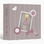 Cute and Whimsical Young Girl with Flowers Binders