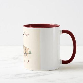 Cute Angel and Pig - Happy New Year 2012 Mug