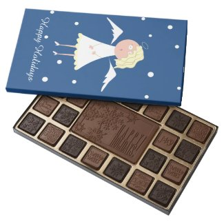 Cute Angel and Snow Xmas Chocolates