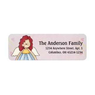 Cute Angel Antics Angel Girl d4 Address Labels