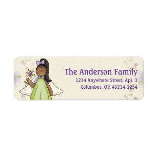 Cute Angel Antics Angel Girl d5 Address Labels
