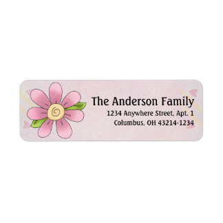 Cute Angel Antics Whimsy Flower Address Labels