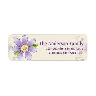 Cute Angel Antics Whimsy Flower Address Labels 2