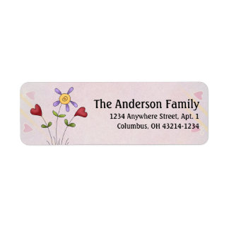 Cute Angel Antics Whimsy Flowers Address Labels