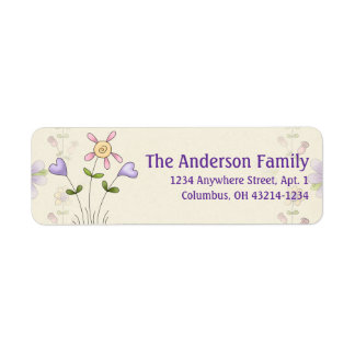 Cute Angel Antics Whimsy Flowers Address Labels 2