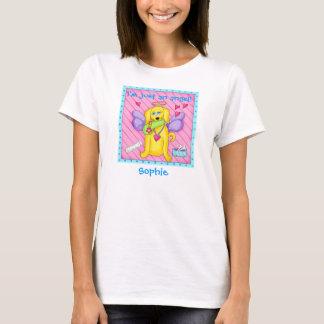 Cute Angel Dog with Wings on Pink T-Shirt