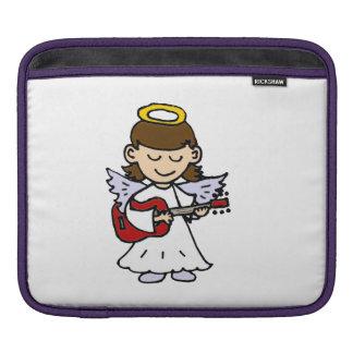 Cute Angel Girl Playing Guitar iPad Sleeve