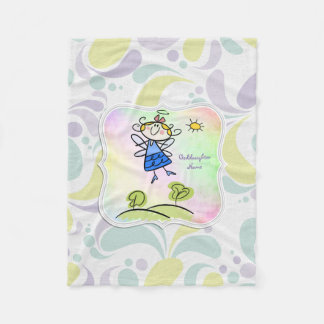 Cute Angel Goddaughter Gifts Personalized Fleece Blanket