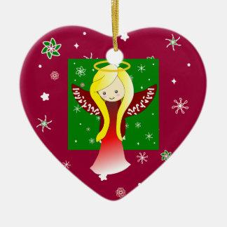 Cute Angel Heart shaped Ornament Decoration