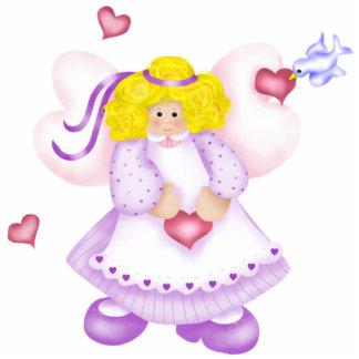 Cute Angel Hearts Photo Sculpture 2