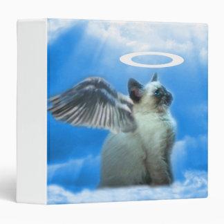 Cute Angel Kitty Notebook Vinyl Binders