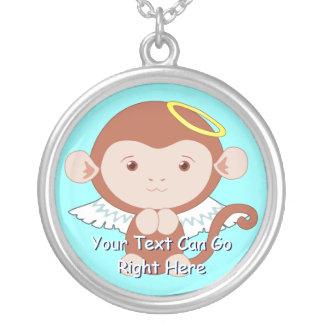 Cute Angel Monkey Necklace
