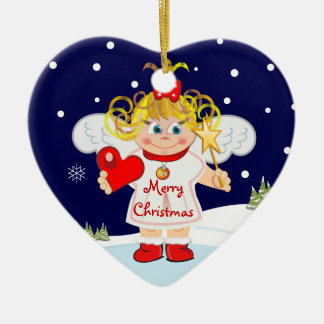 Cute Angel ornament with text