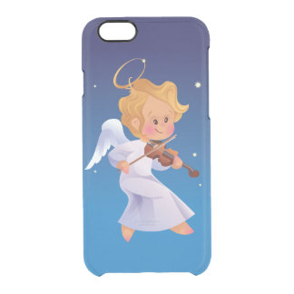 Cute angel playing violin clear iPhone 6/6S case