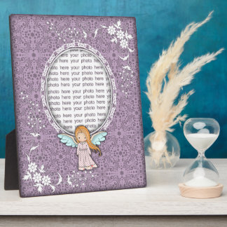 Cute Angel Self Standing Custom Photo Plaque