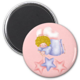 Cute Angel Star 1 2 Inch Round Magnet