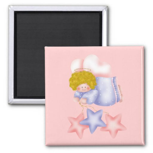 Cute Angel Star 1 2 Inch Square Magnet