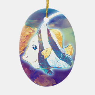 Cute Angelfish Ceramic Ornament