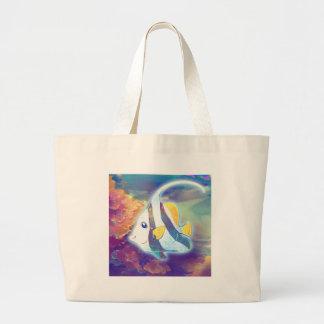 Cute Angelfish Large Tote Bag
