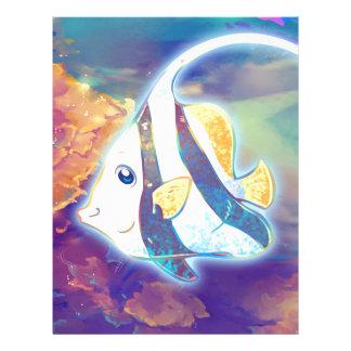Cute Angelfish Letterhead
