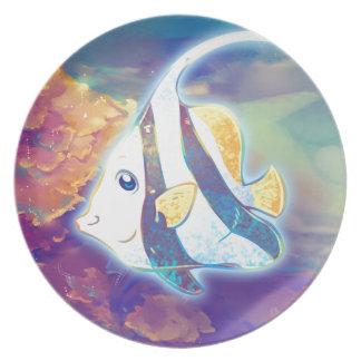 Cute Angelfish Melamine Plate