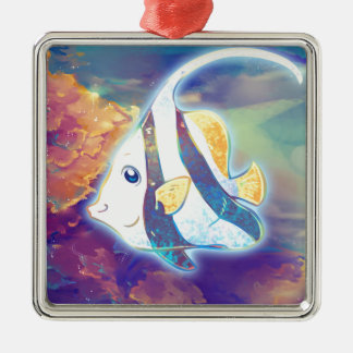 Cute Angelfish Metal Ornament