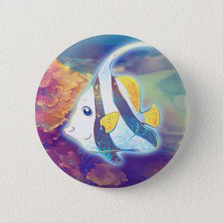 Cute Angelfish Pinback Button