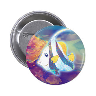 Cute Angelfish Pinback Button