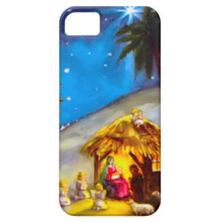 Cute angels round the manger iPhone SE/5/5s case
