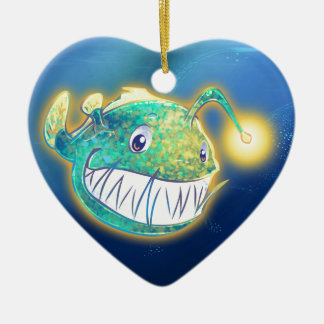Cute Angler Fish Ceramic Ornament
